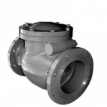 Válvula de Retenção Tipo Portinhola Única com Flange - Inox - 125 Libras